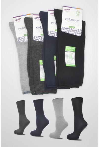Çekmece 4'lü Şeker Hastaları Için Sıkmaz Bambu Bayan/unisex Çorap