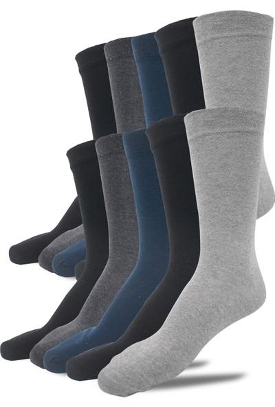 Çekmece 10'lu Pamuklu Lüks 4 Mevsim Dikişsiz Erkek Soket Çorap