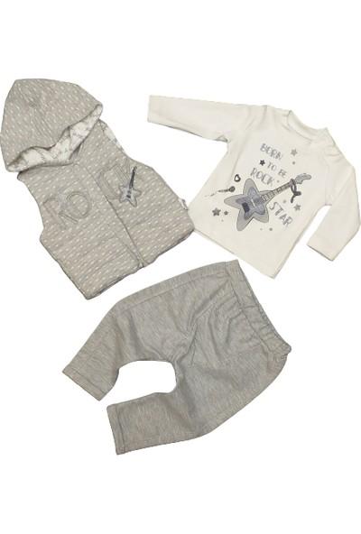 Hippil Baby Kız Bebek 3 Parça Penye Takım