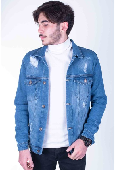 Zenet Jeans Erkek Slimfit Açık Mavi Kot
