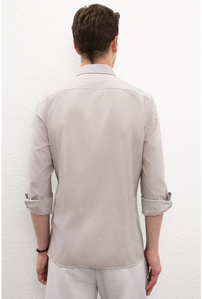 U.S. Polo Assn. Gri Gömlek Uzunkol Basic 50218898-VR024
