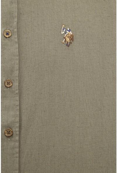 U.S. Polo Assn. Erkek Gömlek Uzunkol Basic 50218991-VR027