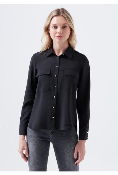 Mavi Siyah Lyocell Gömlek 122634-900