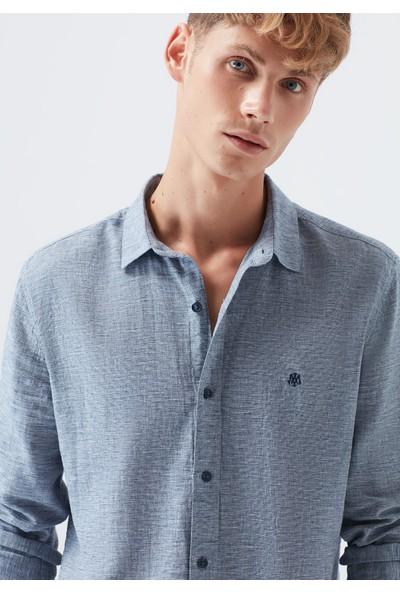Mavi Lacivert Gömlek