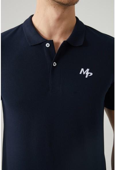 M.P Erkek Polo Yaka Lacivert T-Shirt