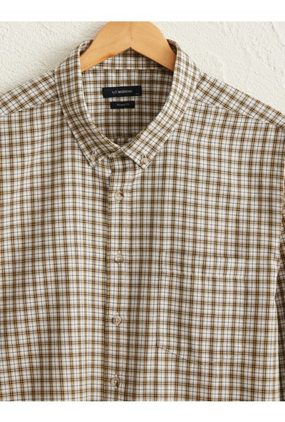 LC Waikiki Erkek Düğmeli Gömlek Yaka Gömlek