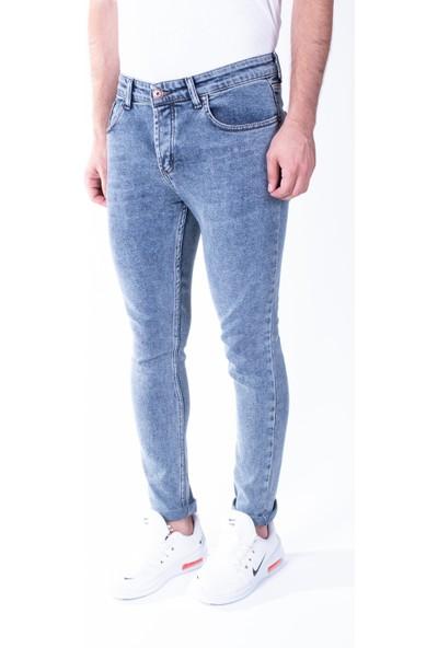 Zenet Jeans Erkek Slimfit Buz Mavisi Kot Pantolon