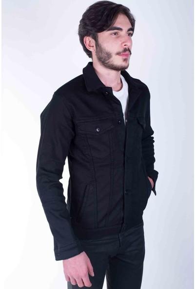 Zenet Jeans Erkek Slimfit Siyah İçi Polarlı Kot Ceket