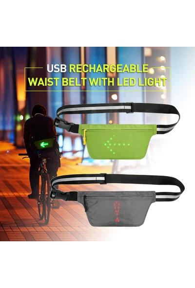 Lixada Hafif USB Şarj Edilebilir Yansıtıcı Bel Kemeri