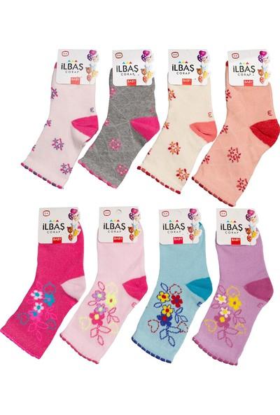 İlbaş Pamuklu Kız Bebe Çorap 8'li Karışık Desen 2