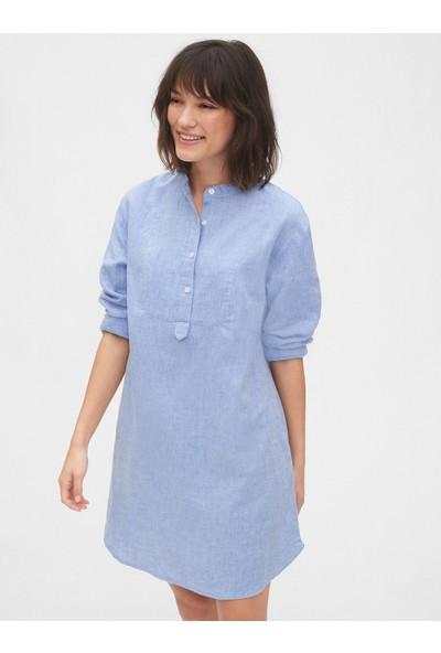 Gap Uzun Kollu Gömlek Elbise