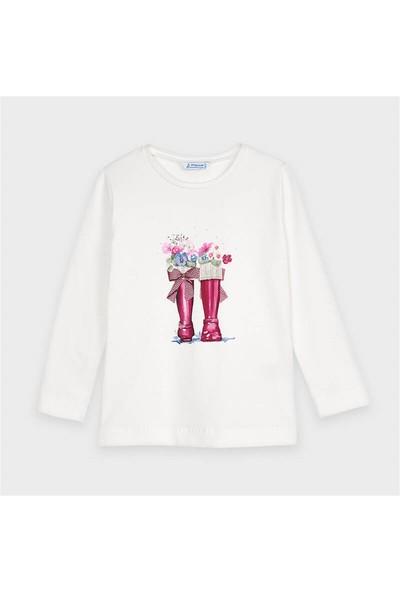 Mayoral Kız Çocuk Baskılı Uzun Kol Sweatshirt