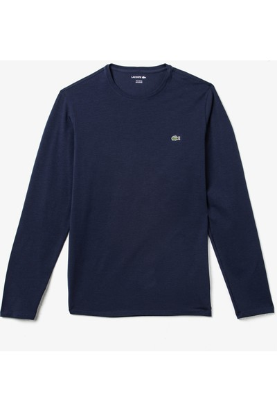 Lacoste Erkek Uzun Kollu Lacivert T-Shirt TH0990.166