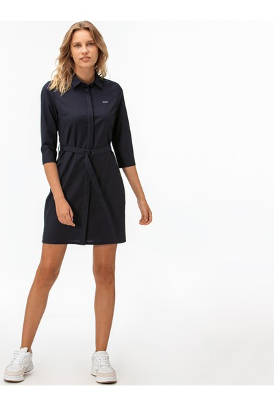 Lacoste Kadın Truvakar Kollu Lacivert Elbise EF1938.38L