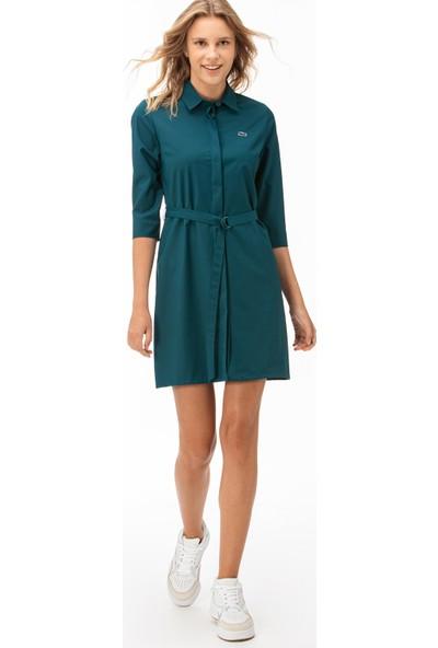 Lacoste Kadın Truvakar Kollu Yeşil Elbise EF1938.38Y