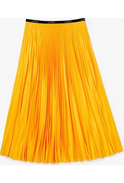Lacoste Kadın Pileli Sarı Etek JF5455.US3