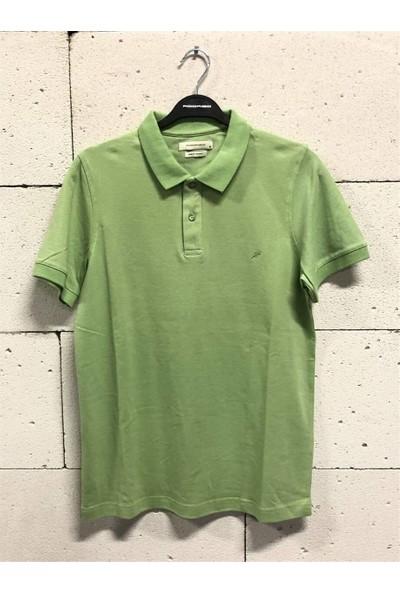 Rodri̇go Açık Yeşil Polo Yaka Düz Basic T-Shirt (A.yeşil)