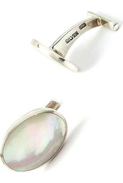 Ose Shop Sedef Taşlı Gümüş Kol Düğmesi