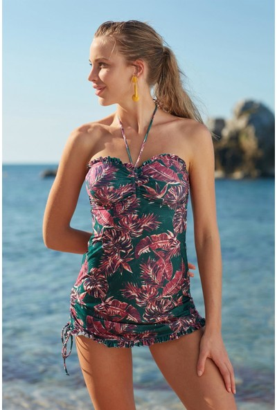 Marie Claire Straplez Elbise Mayo 207120 Desenli