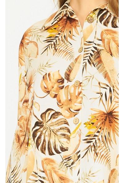 Batik Y42725 Dkm Desenli Casual Gömlek Kısa Kol