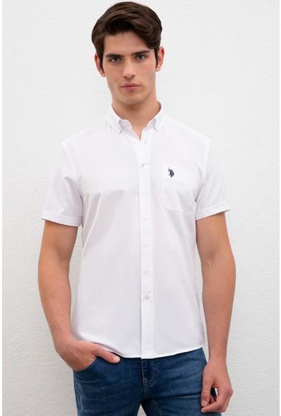 U.S. Polo Assn. Beyaz Gömlek Kısakol 50218936-VR013