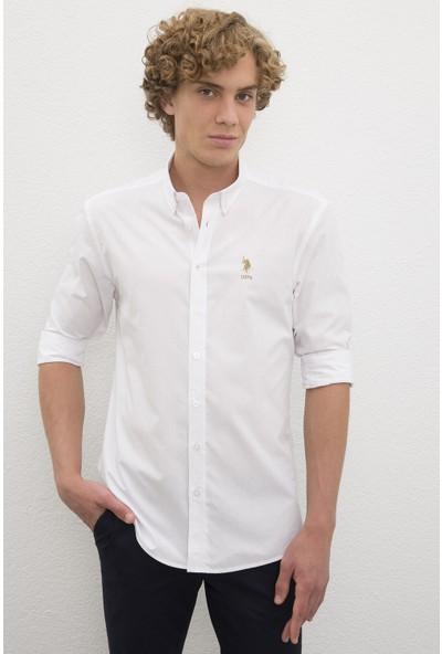 U.S. Polo Assn. Beyaz Gömlek Uzunkol 50219557-VR085