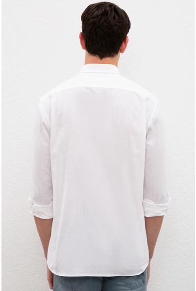 U.S. Polo Assn. Beyaz Gömlek Uzunkol Basic 50222183-VR013