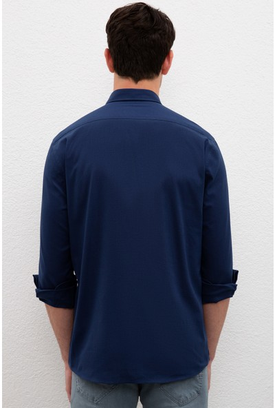 U.S. Polo Assn. Lacivert Gömlek Uzunkol Basic 50222183-VR033
