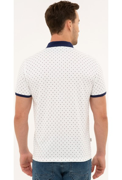 Pierre Cardin Beyaz Slim Fit Polo Yaka T-Shirt 50226638-VR023