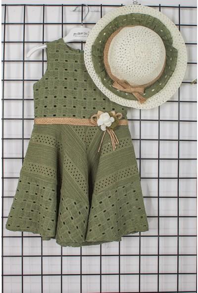 Pafim Kosuz Dantelli Şapkalı Kız Çocuk Elbisesi 20-661