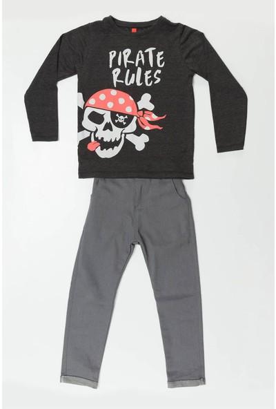 Ms Pirate Rule Grey Denim Takım