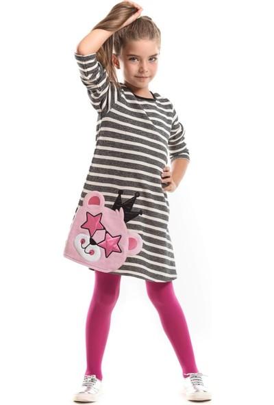 Ms Yıldız Gözlüklü Kız Çocuk Elbise