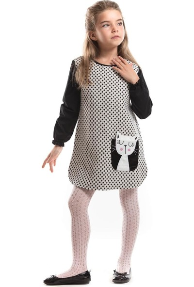 Ms Minnoş Kız Çocuk Puantiyeli Elbise