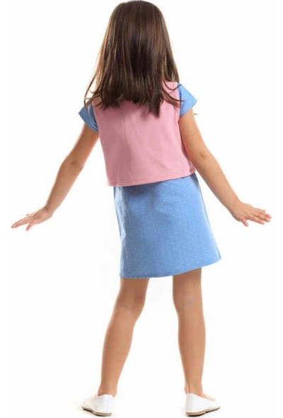 Ms Kedi Aç-Kapa Yelekli Elbise Kız Çocuk Giyim