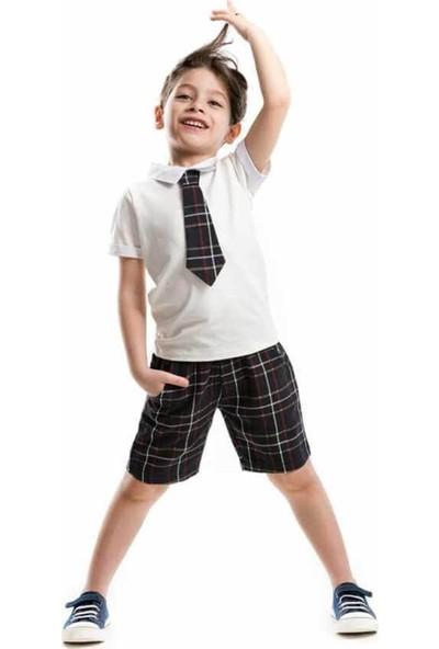 Ms Ciddi Adam Gabardin Şort Takım Erkek Çocuk Giyim