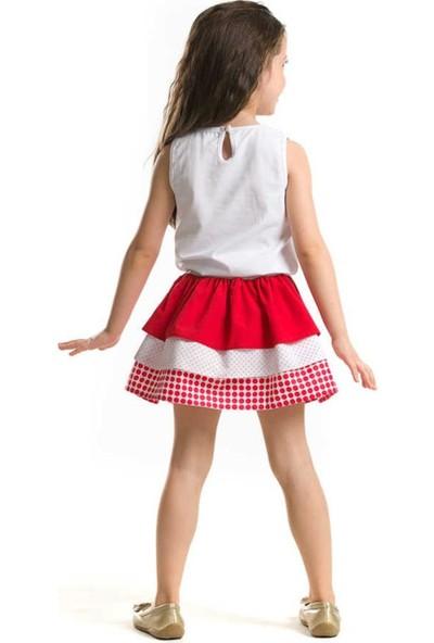 Ms Gelincik Fırfırlı Kız çocuk Etek ikili Takım