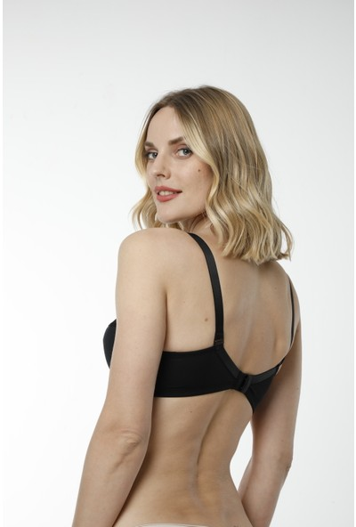 HMD 3'lü Kadın Ribana Pamuk İnce Askılı & Göğüs Dantel Detaylı Toparlayıcı Sütyen