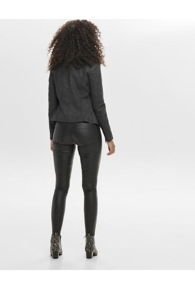 Only 15102997 Kadın Ava Faux Leather Bıker Otw Noos Ceket Black
