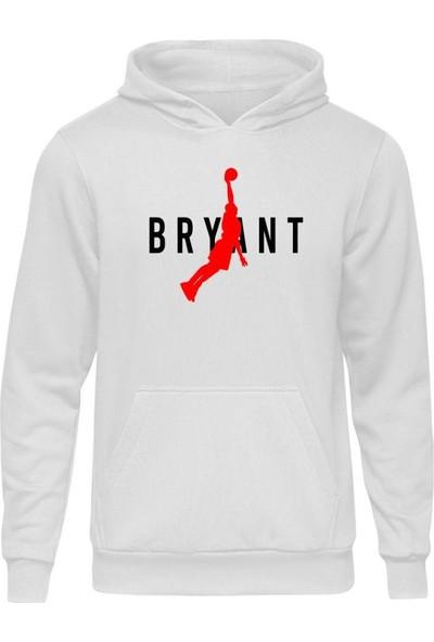 Fandomya All-Star Bryant Type Beyaz Kapşonlu Sweatshirt