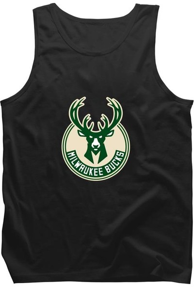 Fandomya All-Star Milwaukee Bucks Siyah Askılı Atlet