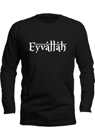 Fandomya Anadolu Replikleri Eyvallah Siyah Long Sleeve