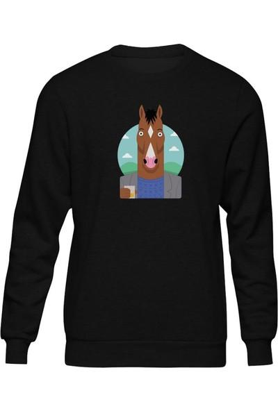 Fandomya Bojack Horseman Coffee Siyah Sweatshirt