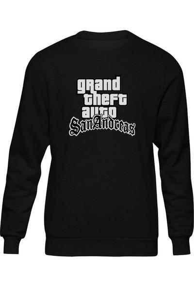 Fandomya Gta San Andreas Iı Siyah Sweatshirt