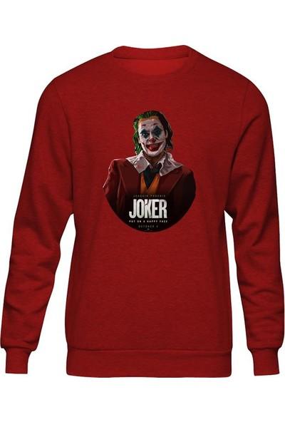 Fandomya Joker Circle Kırmızı Sweatshirt