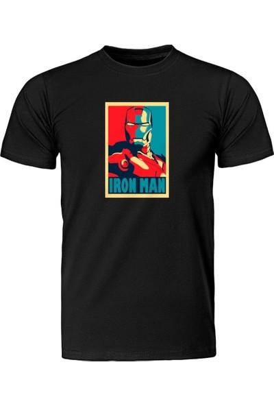 Fandomya Marvel Iron Man Legend Siyah Tişört