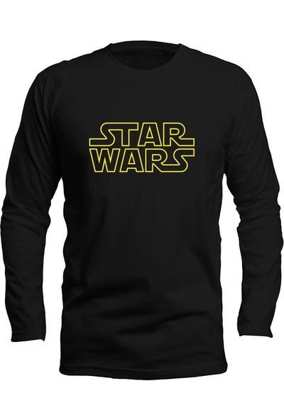 Fandomya Star Wars Type Siyah Long Sleeve