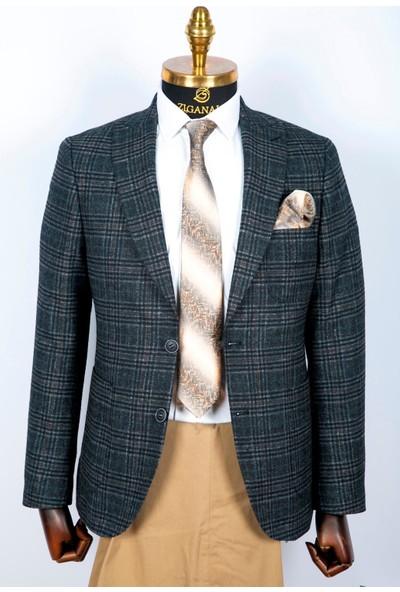 Ziganalı Modern Fit Casual Ceket (ZG20105 42)