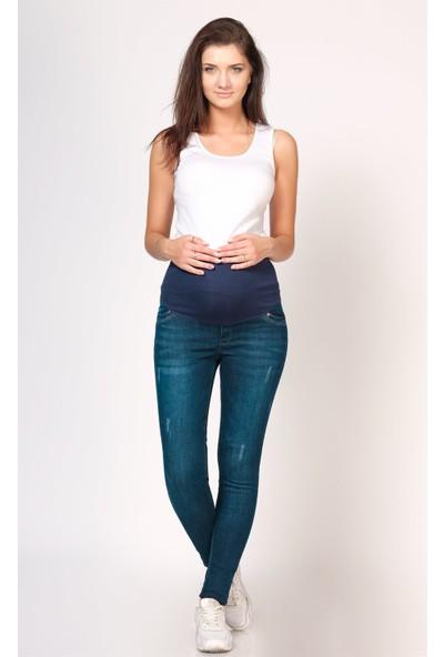 Busa Hamile Skinny Mavi Jean