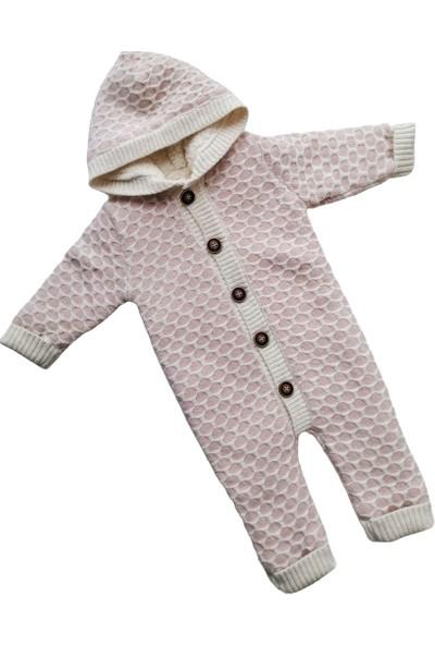 Puppis Baby Petek Örgü Kapşonlu Welsoft Triko Tulum