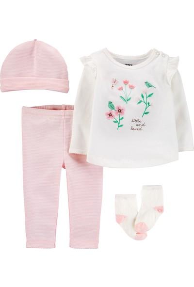 Carter's Çiçek Desenli 4'lü Bebek Takımı